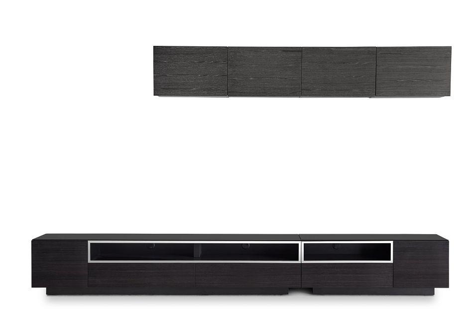 "Vancouver 134"" Dark Tone Dk Gray 6-piece Right Modular Entertainment Wall"