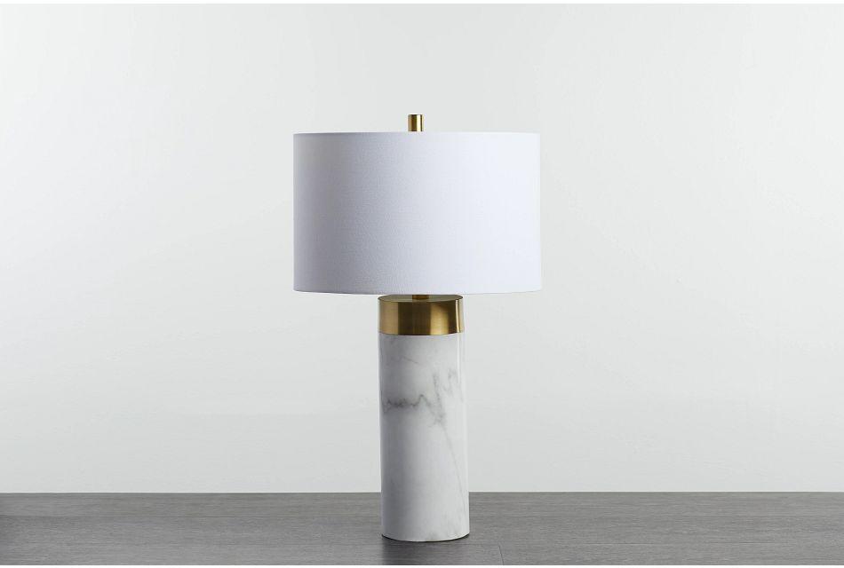 Jocelyn White Table Lamp