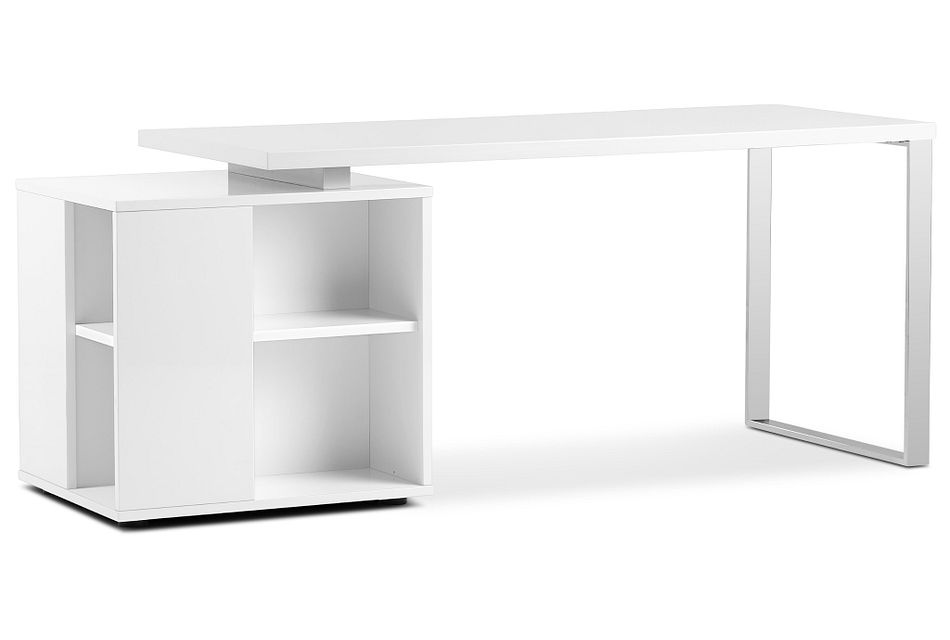 Vancouver White Storage Desk