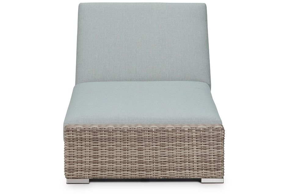 Raleigh Teal Woven Cushioned Chaise