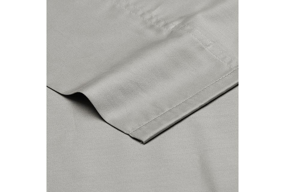 Cotton Sateen Gray 300 Thread Sheet Set