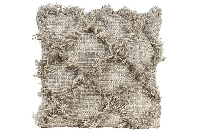 Jucar Light Gray Accent Pillow