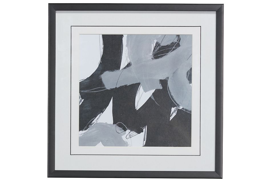 Swoosh Black Framed Wall Art
