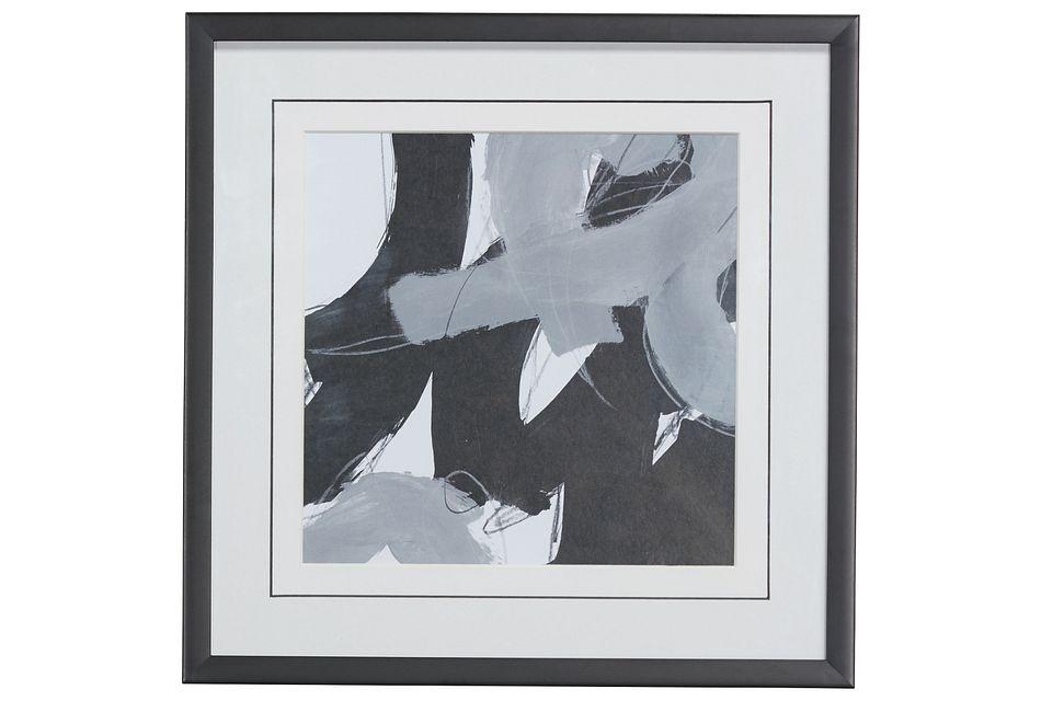Swoosh Black Framed Wall Art