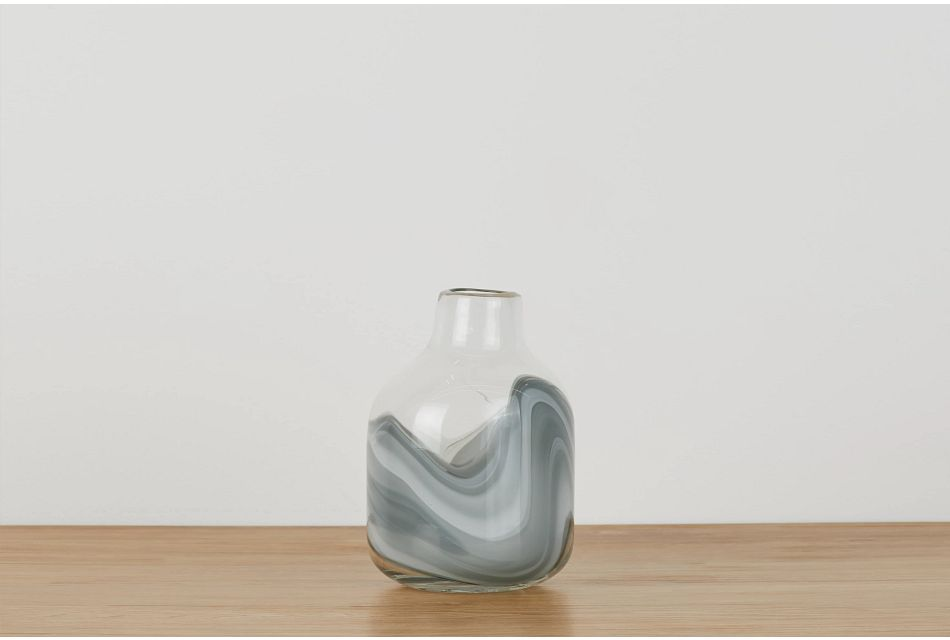 Arya Gray Short Vase