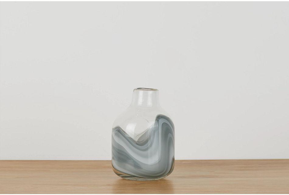 Arya Gray Short Vase