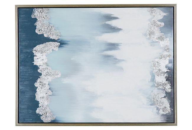 Camara Blue Framed Wall Art