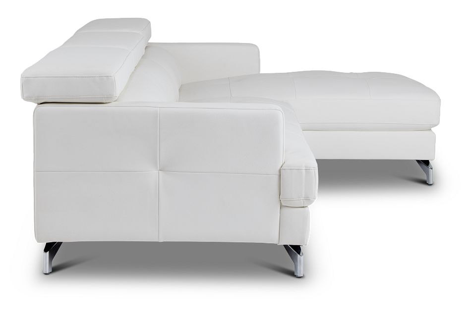 Marquez White Micro Right Chaise Sectional,  (2)