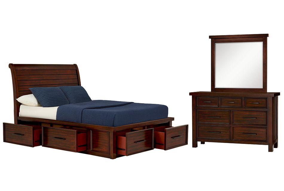 Napa DARK TONE 4-DRAWER Sleigh Storage Bedroom, Full (0)