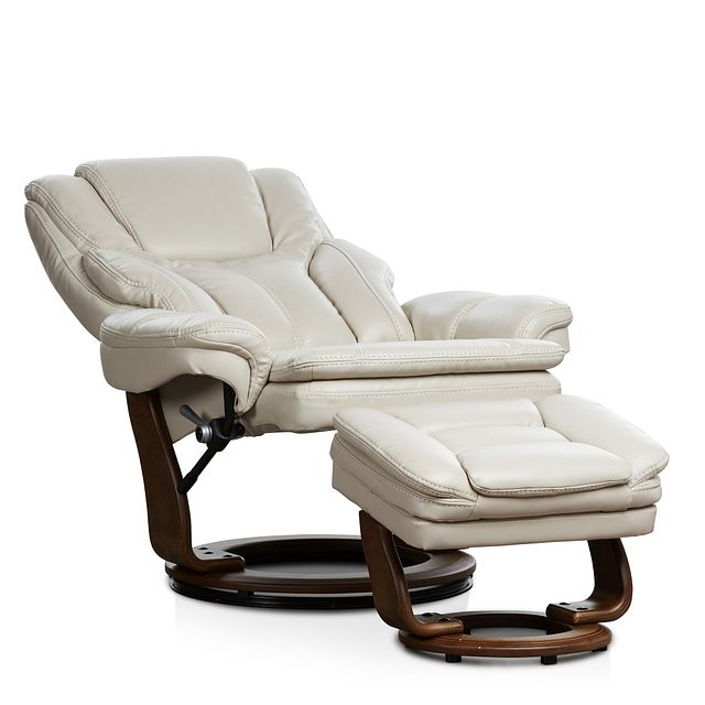 Perkins Taupe Micro Recliner & Ottoman