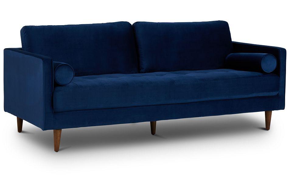Luna Dark Blue Velvet Sofa,  (2)