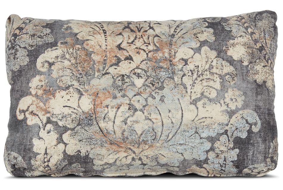 Firenza Gray Lumbar Accent Pillow,  (0)