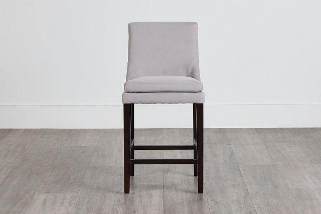 """Tito Light Gray 24"""" Upholstered Barstool (0)"""