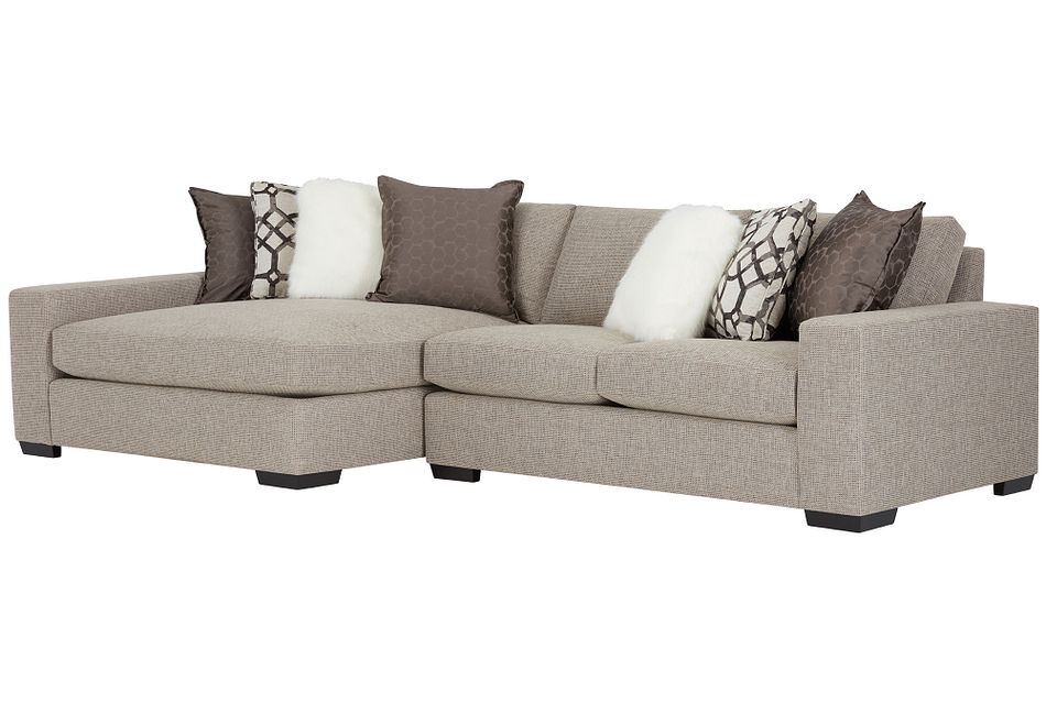 Orlando Brown Fabric Left Chaise Sectional