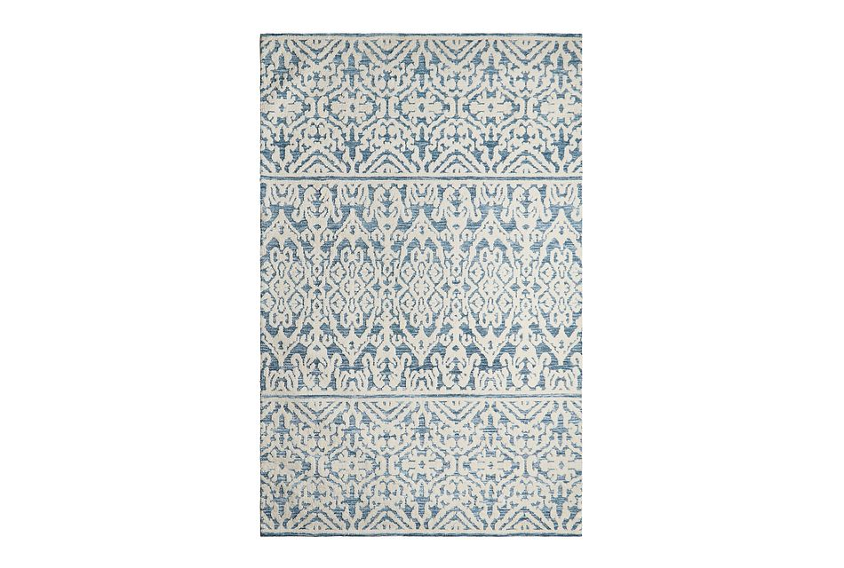 Milly Blue Poly Blend 8x10 Area Rug
