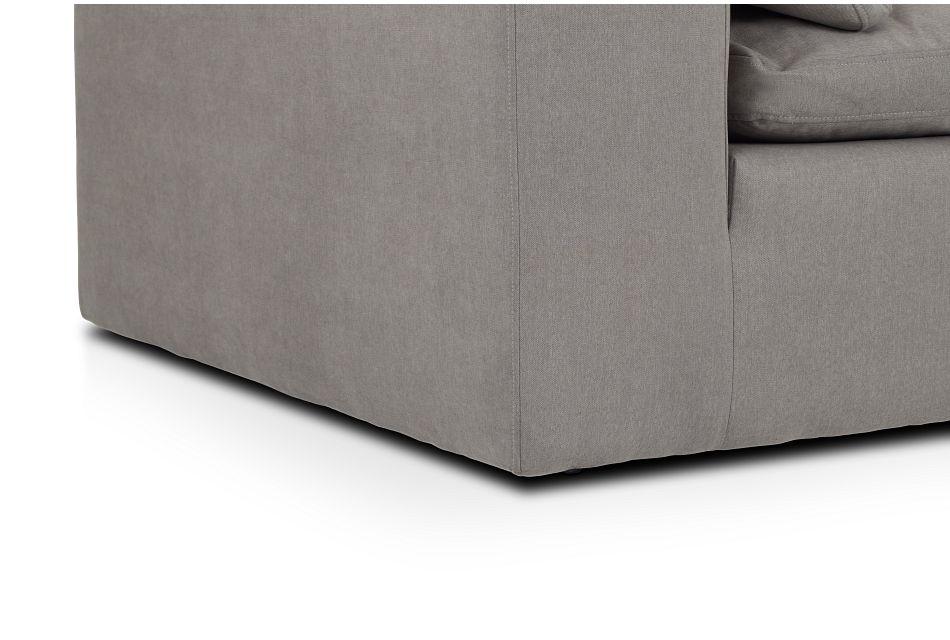 Nixon Light Gray Fabric 3 Piece Modular Sofa