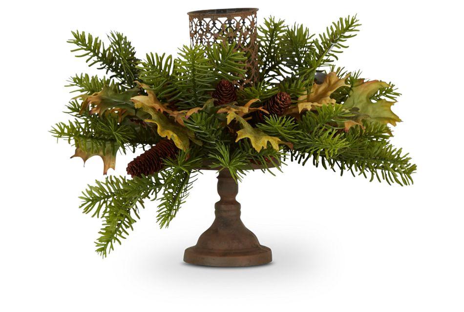 """Candle 12"""" Floral Arrangement"""