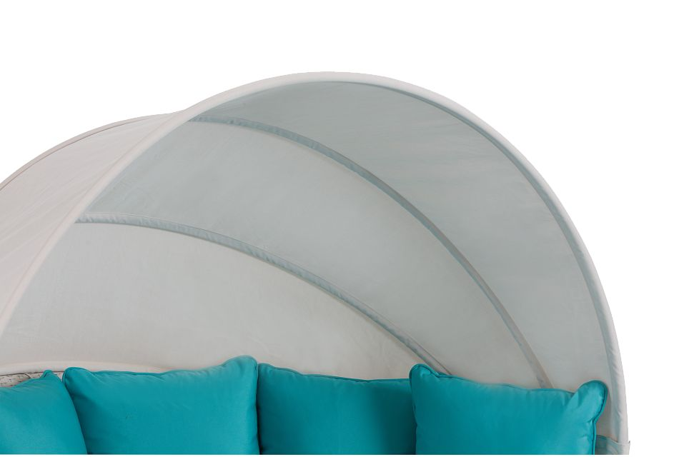 Biscayne Dark Teal Canopy Daybed