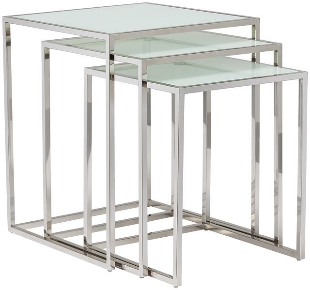 Eve White Glass Nesting End Table (1)
