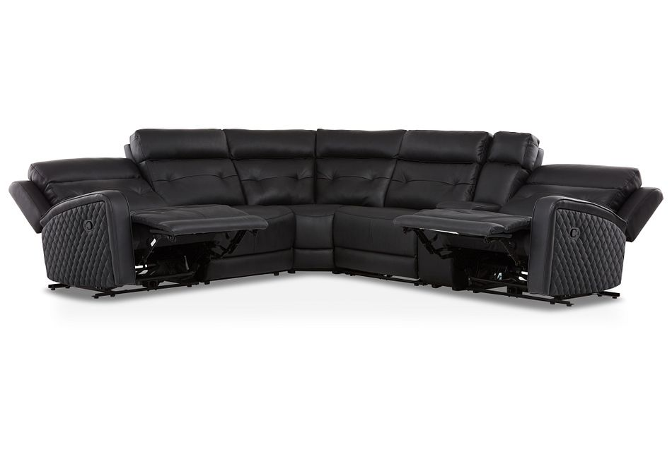 Mccoy BLACK MICRO Two-Arm Manually Reclining Sectional