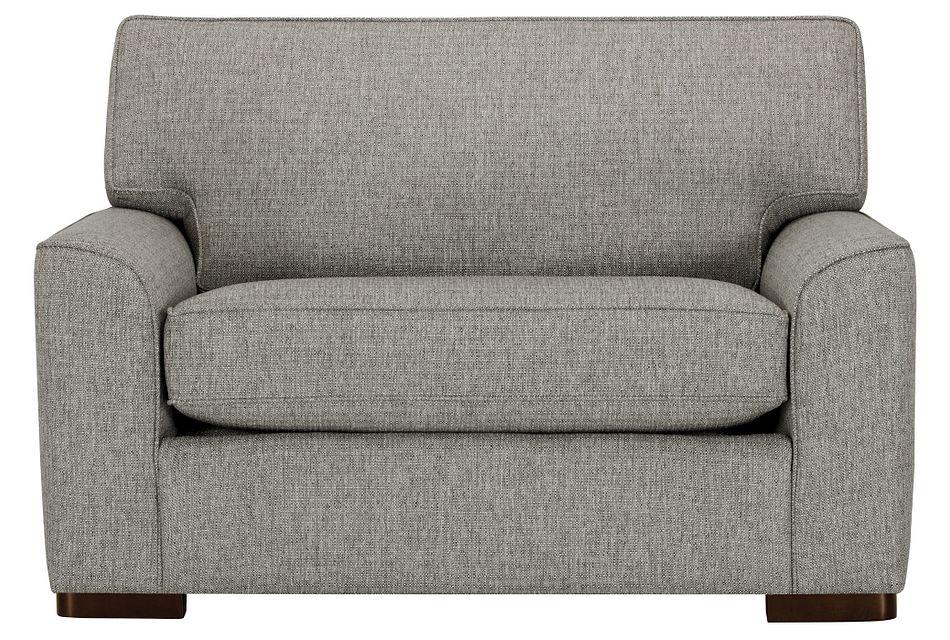 Austin Gray Fabric Memory Foam Sleeper, Twin (1)