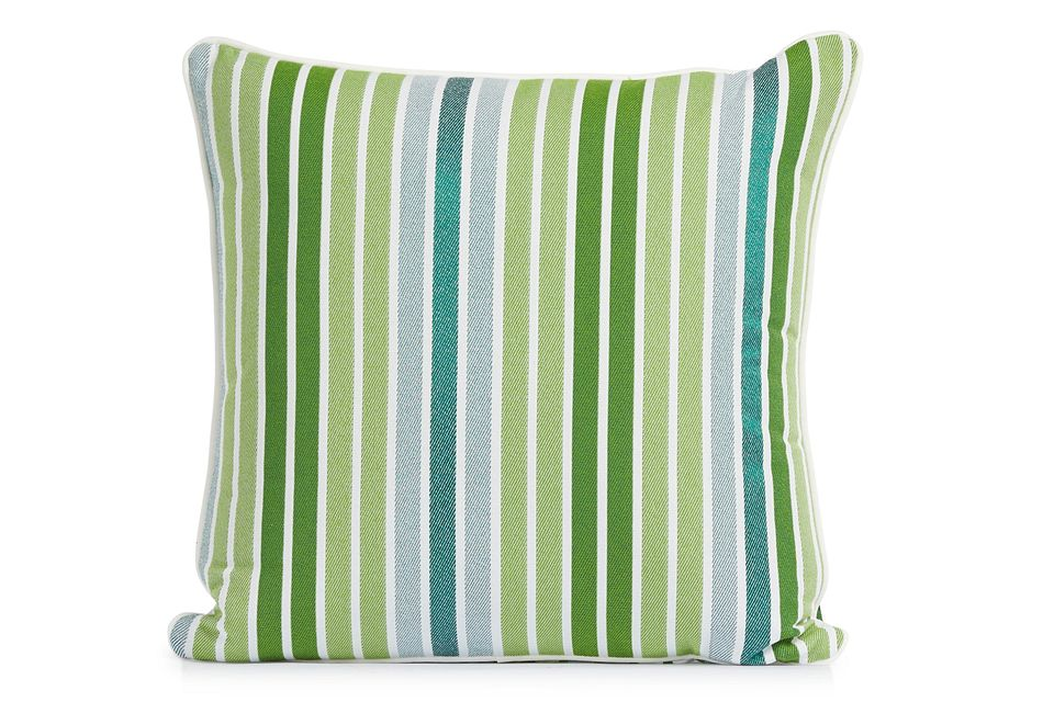 """Spring Green 18"""" Indoor/outdoor Square Accent Pillow"""