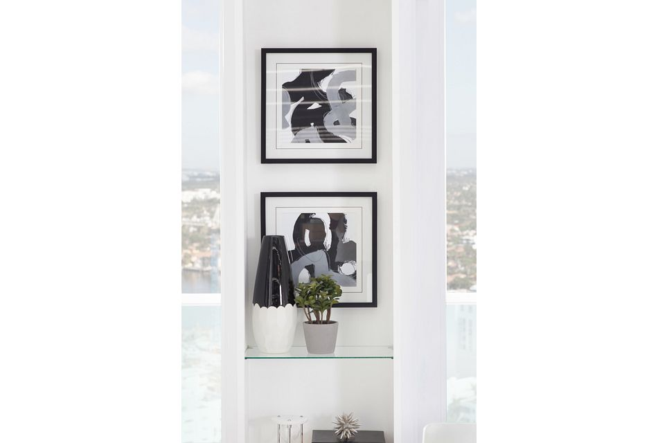 Curl Black Framed Wall Art