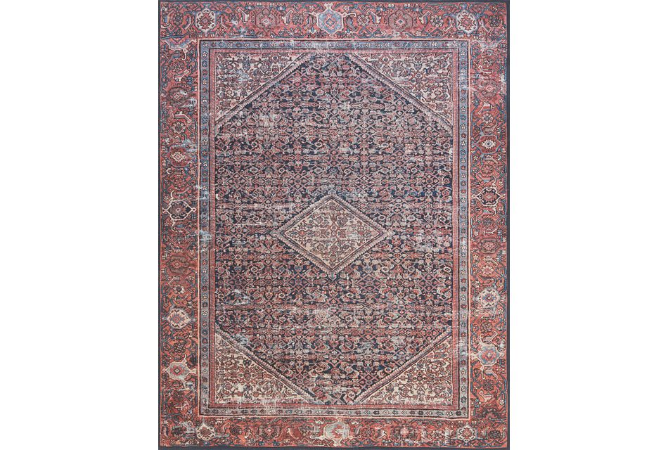 Lorna Red 5x7 Area Rug