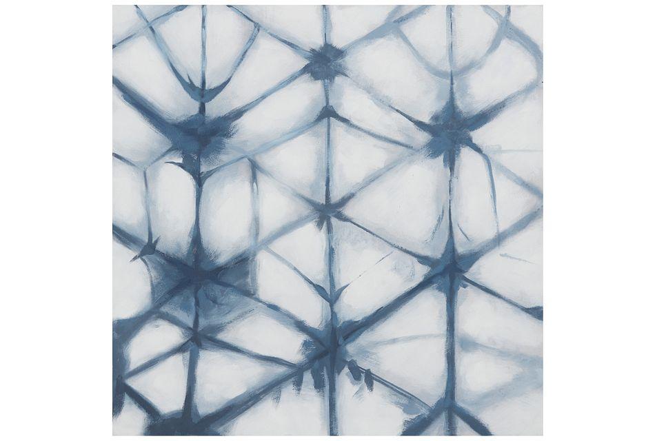 Azul Dark Blue Framed Canvas Wall Art
