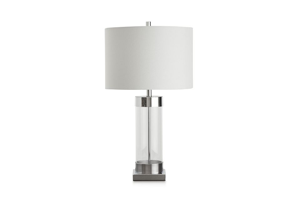 Lyra Clear Glass Table Lamp