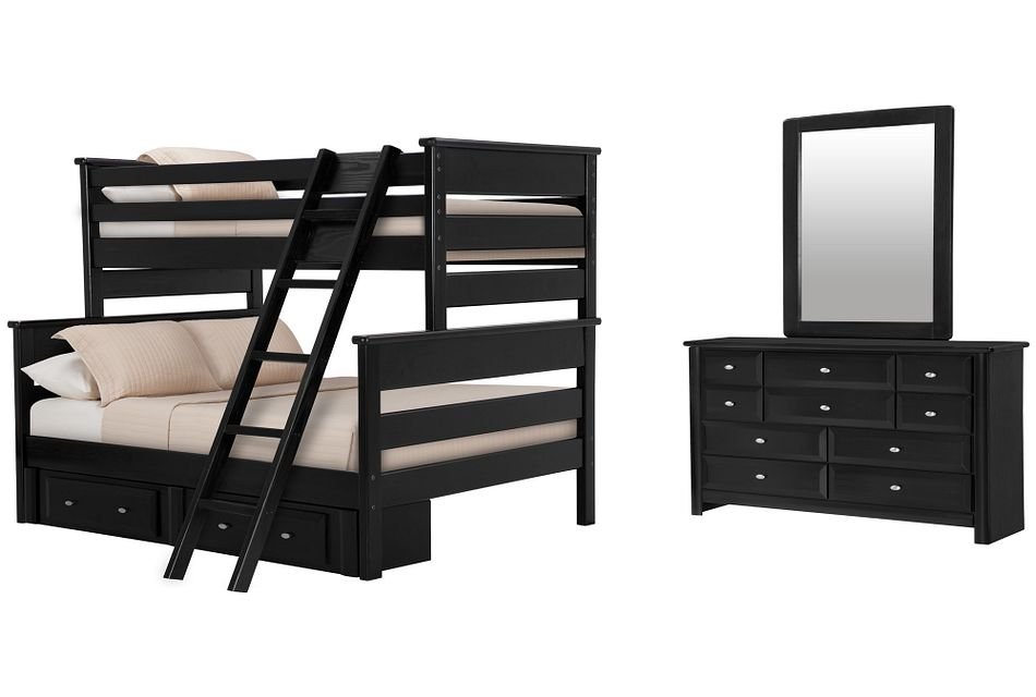Laguna Black Bunk Bed Storage Bedroom