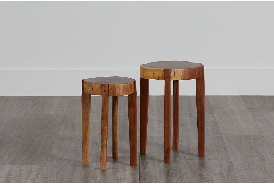 Nyle Set Of 2 Wood Accent Table