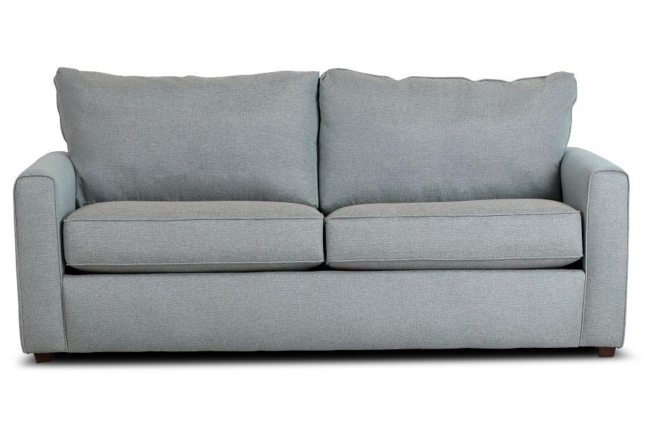 Ripley Light Blue Fabric Sofa,  (1)