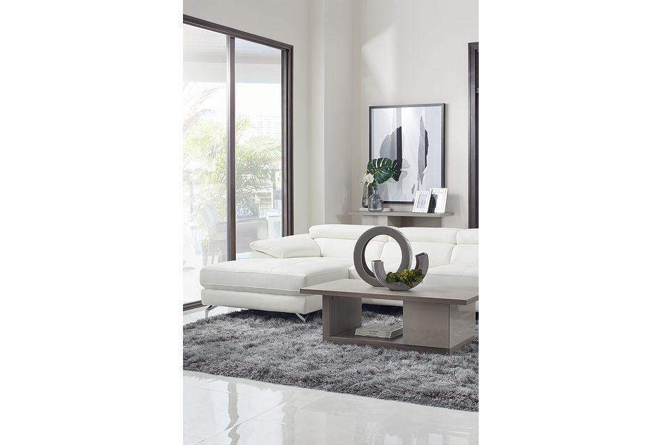 Caelan Light Tone Rectangular Coffee Table