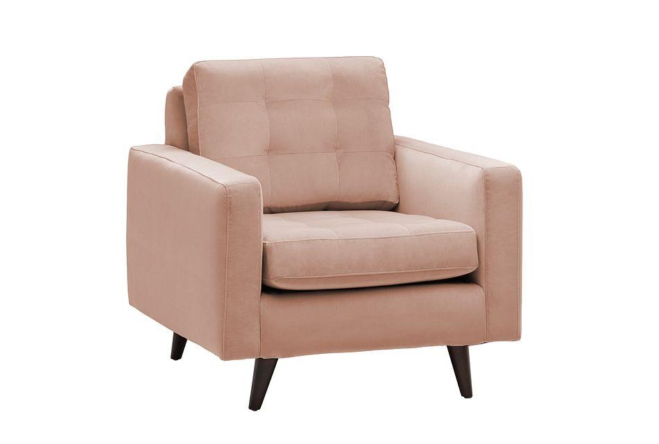 Mila Light Pink  Velvet Chair,  (0)