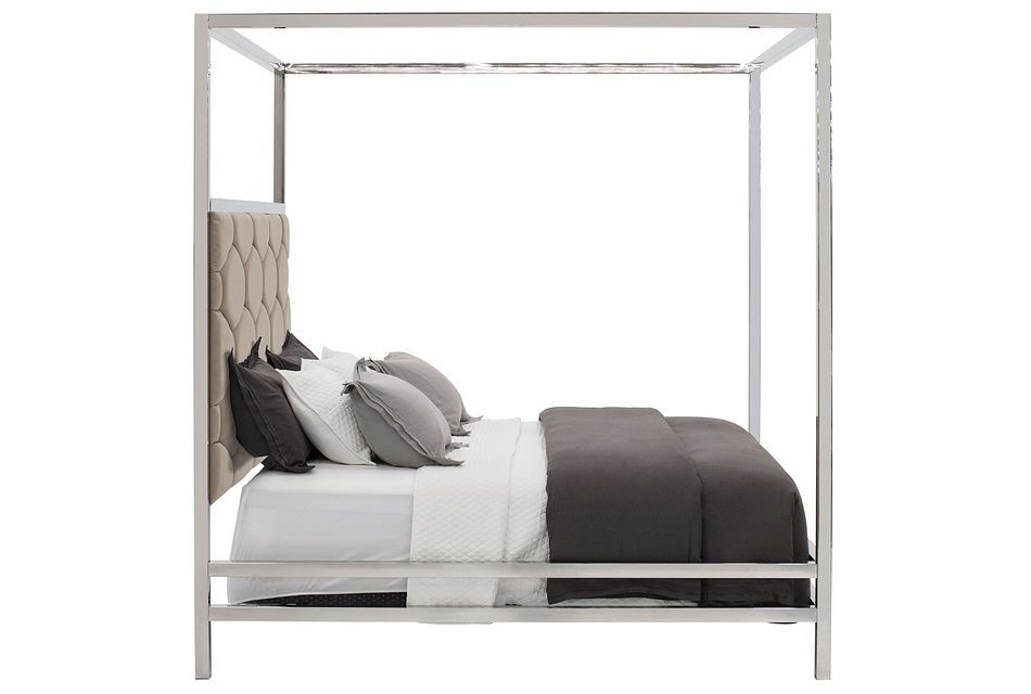 Cortina Champagne Canopy Bed, Queen