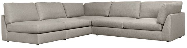 Harper Gray Fabric Large Right Arm Sectional (0)