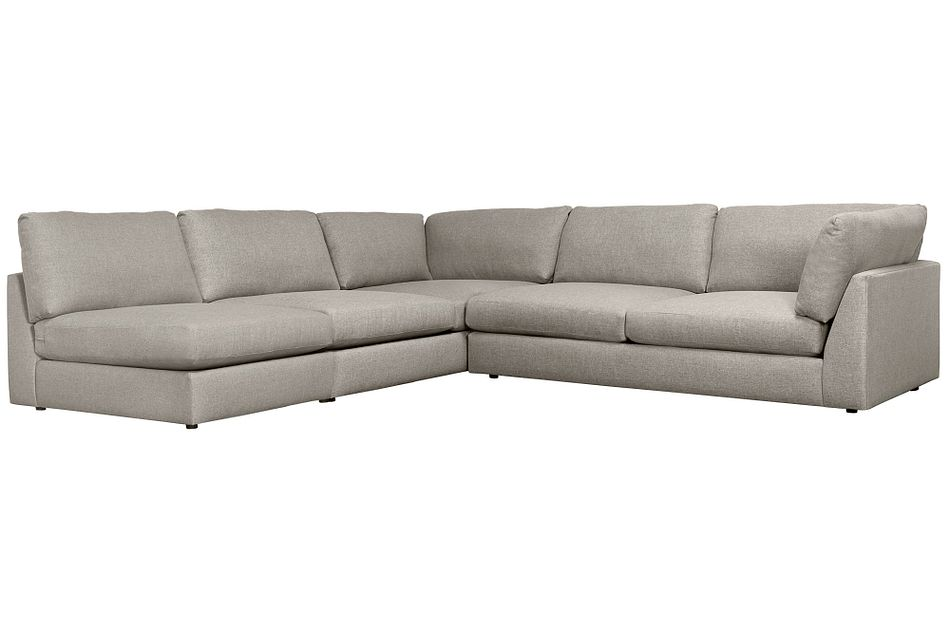 Harper Gray Fabric Large Right Arm Sectional