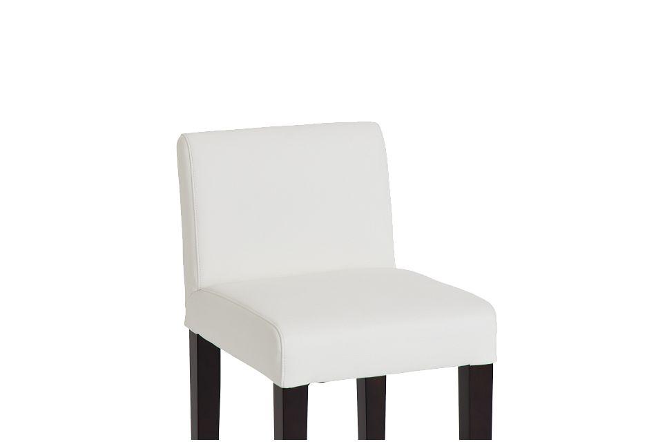 "Cane Whitemicro 30"" Upholstered Barstool"