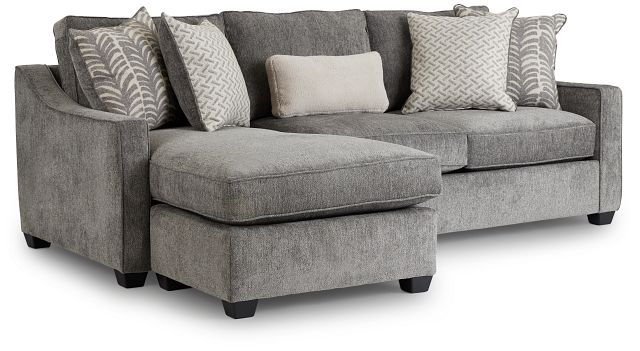 Bianca Gray Fabric Chaise Sectional (1)