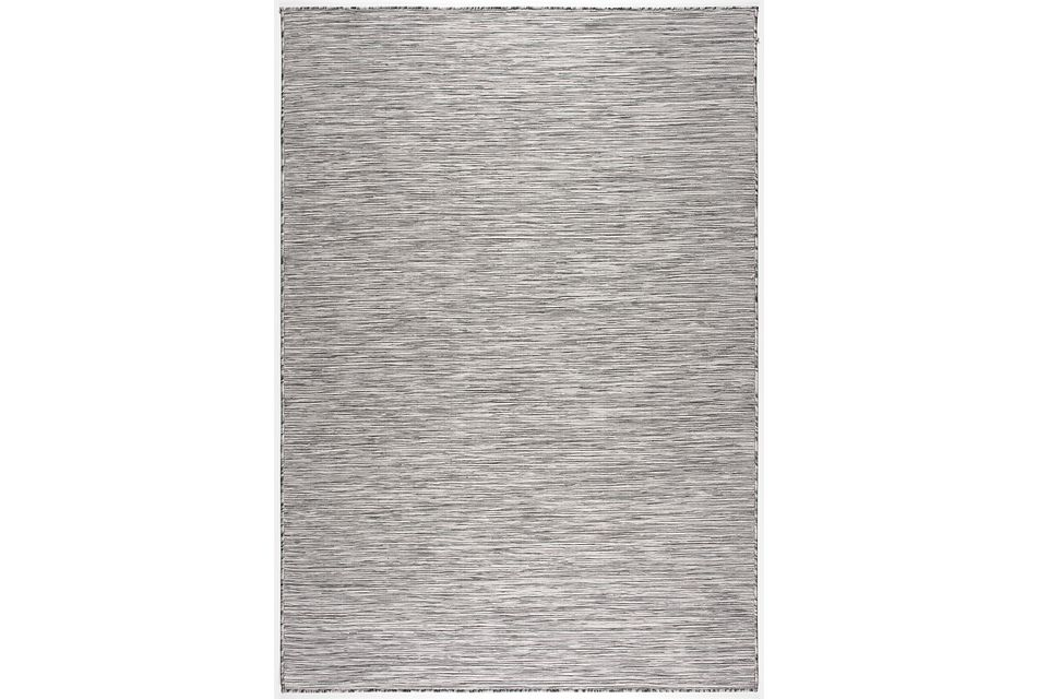Alloha Gray In/out 3x4 Area Rug