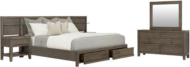 Bravo Dark Tone Wood Spread Storage Bedroom (0)