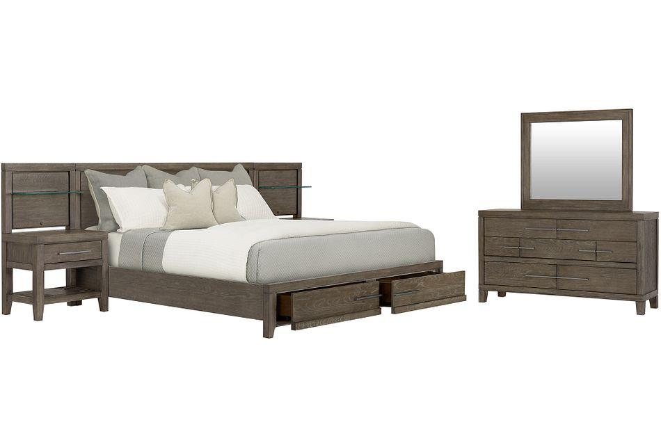 Bravo Dark Tone Wood Spread Storage Bedroom