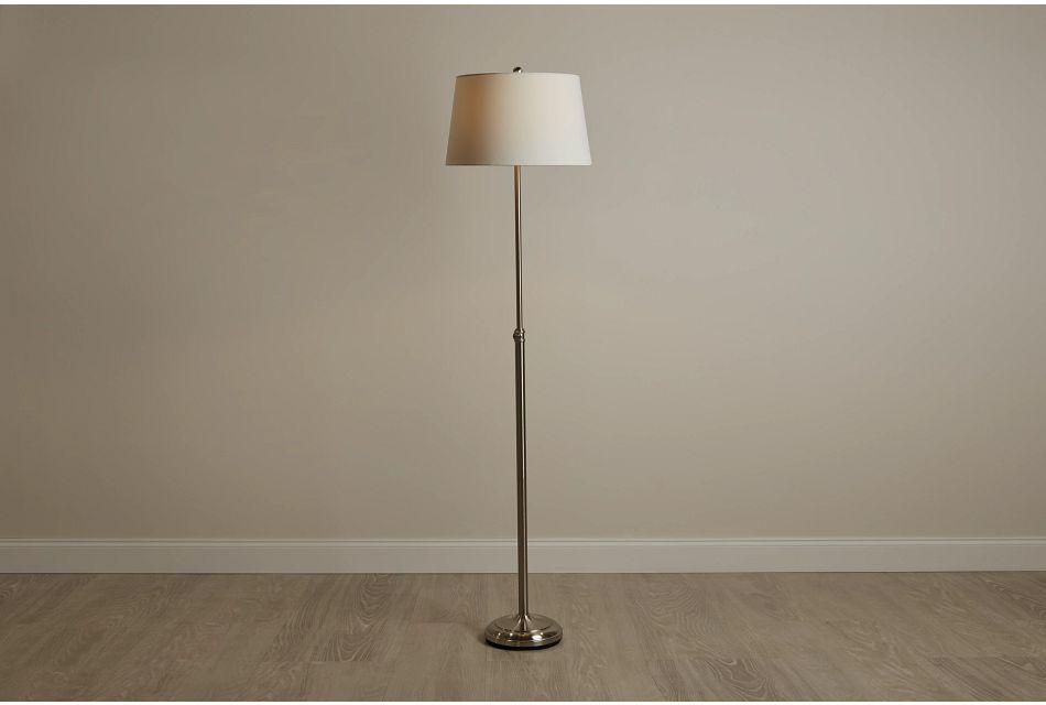 Maisie Silver Metal Floor Lamp