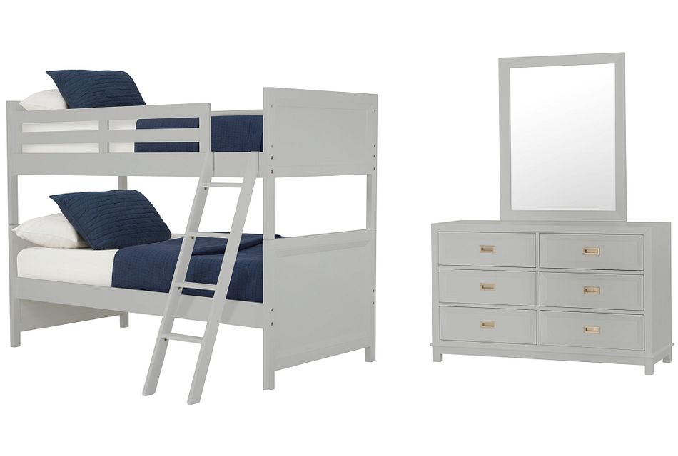 Ryder Gray Bunk Bed Bedroom