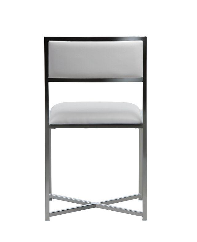 Amalfi White Stnl Steel Side Chair (3)