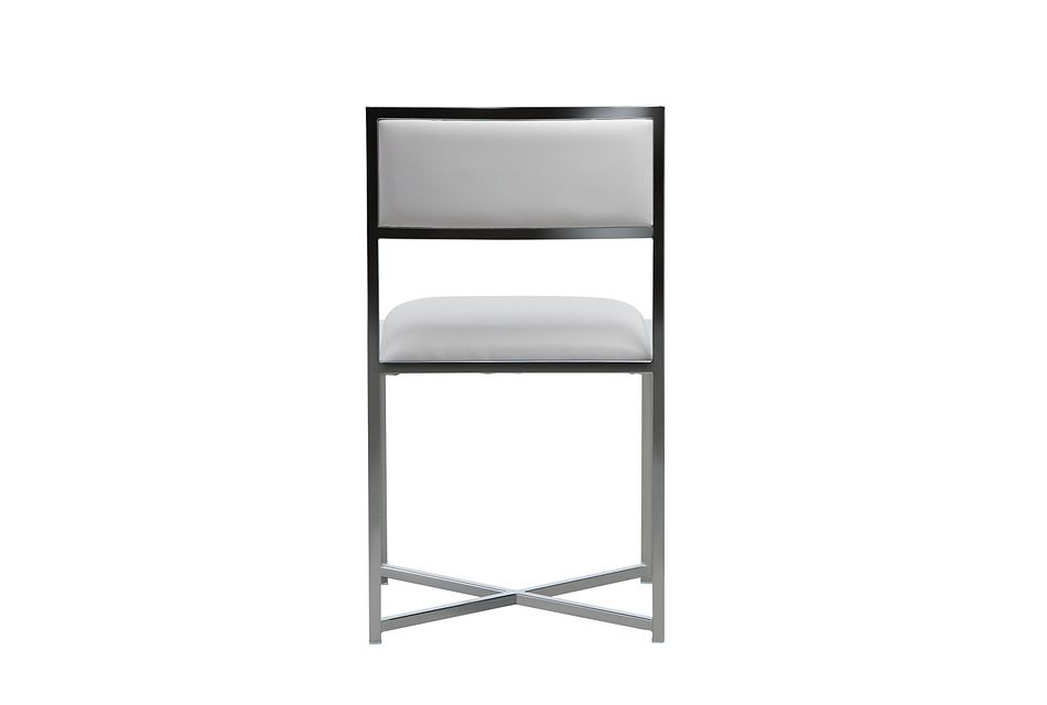 Amalfi White Stnl Steel Side Chair