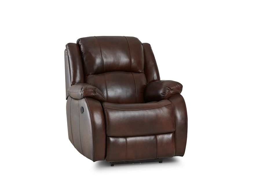 Dalton Medium Brown Lthr/vinyl Recliner