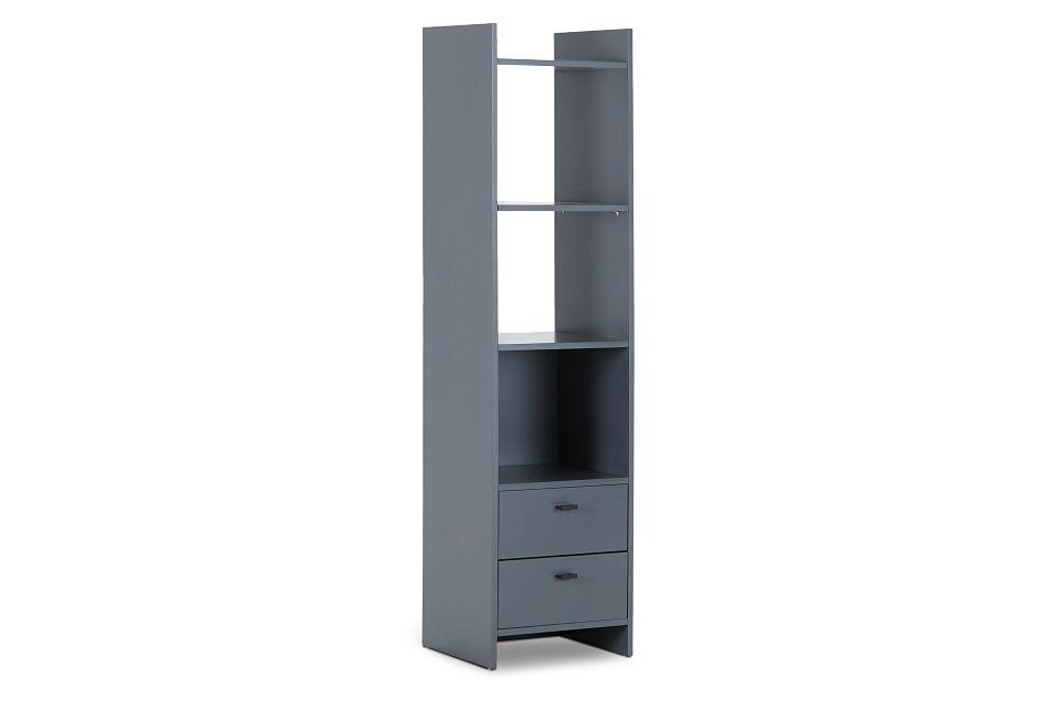 Delray Dark Gray Open Bookcase,  (2)