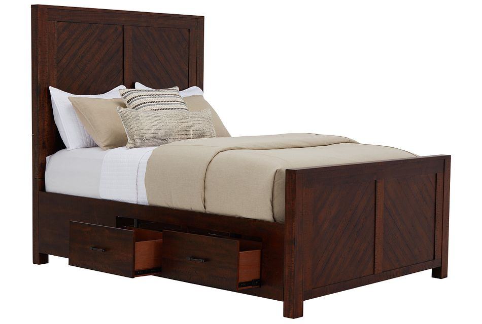 Jax Dark Tone Panel Storage Bed
